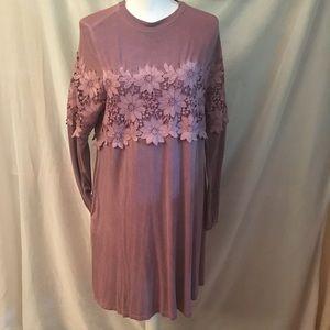 Andrew ' crocheted long sleeve tee shirt dress